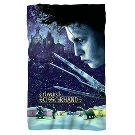 Edward Scissorhands Movie Poster Fleece Blanket