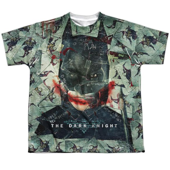 Dark Knight Stacked Hand Short Sleeve Youth Poly Crew T-Shirt