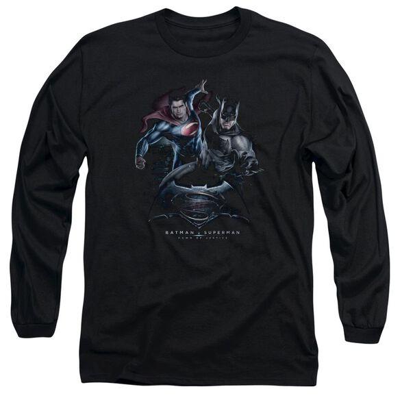 Batman V Superman Team Up Long Sleeve Adult T-Shirt