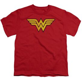 Dc Wonder Woman Logo Dist Short Sleeve Youth T-Shirt