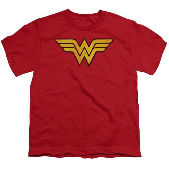 Dc Wonder Woman Logo Dist Short Sleeve Youth T-Shirt