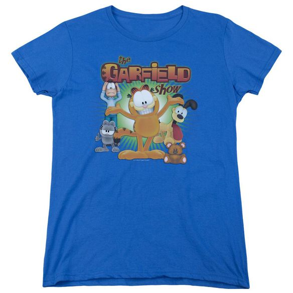 Garfield The Garfield Show Short Sleeve Women's Tee Royal T-Shirt