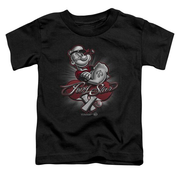 Popeye Pong Star Short Sleeve Toddler Tee Black Sm T-Shirt