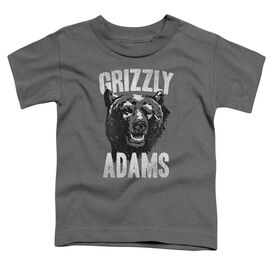 Grizzly Adams Retro Bear Short Sleeve Toddler Tee Charcoal T-Shirt