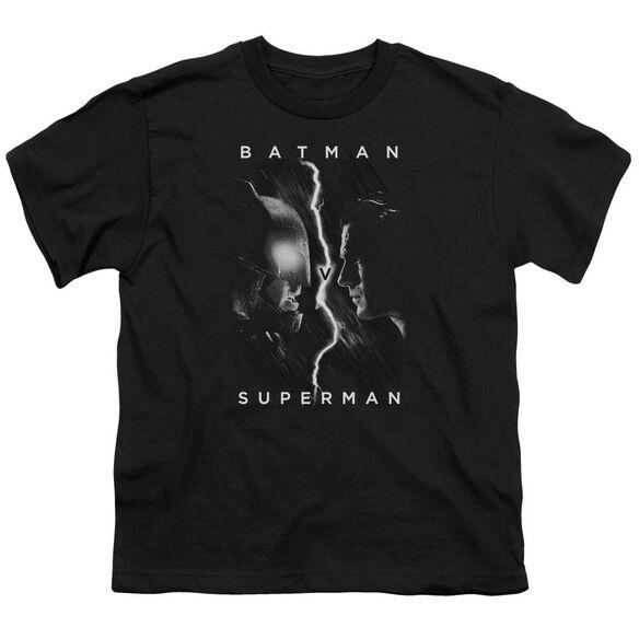 Batman V Superman Face To Face Short Sleeve Youth T-Shirt
