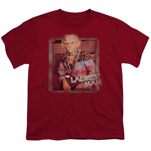 STAR TREK LADIES MAN - S/S YOUTH 18/1 - CARDINAL T-Shirt