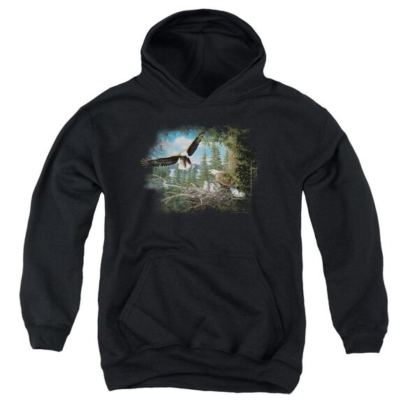 Wildlife Spring Bald Eagles Youth Pull Over Hoodie