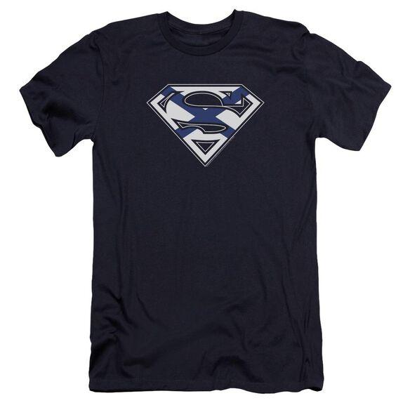 Superman Scottish Shield Premuim Canvas Adult Slim Fit