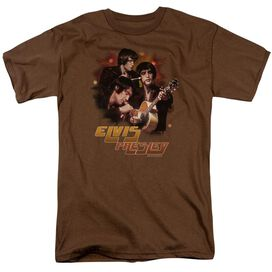 ELVIS PRESLEY HYPED - S/S ADULT 18/1 - COFFEE T-Shirt