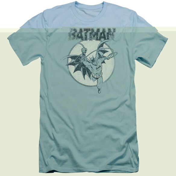 BATMAN SWINGING BAT - S/S ADULT 30/1 - LIGHT BLUE T-Shirt