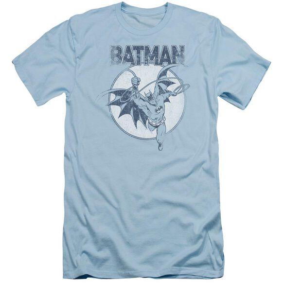Batman Swinging Bat Short Sleeve Adult Light T-Shirt