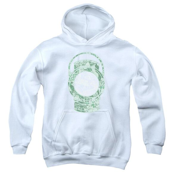Dc Lantern Cover Youth Pull Over Hoodie
