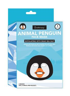 Spatherapy Animal Penguin Exfoliating Face Mask 4-pack