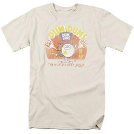 Dum Dums Best Pop Short Sleeve Adult Cream T-Shirt