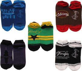 Firefly Assorted 5 Low Cut Pair Socks Set