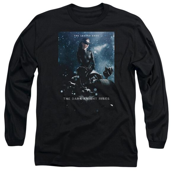 Dark Knight Rises Catwoman Poster Long Sleeve Adult T-Shirt
