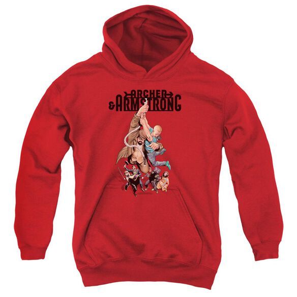 Archer & Armstrong Hang In There Youth Pull Over Hoodie