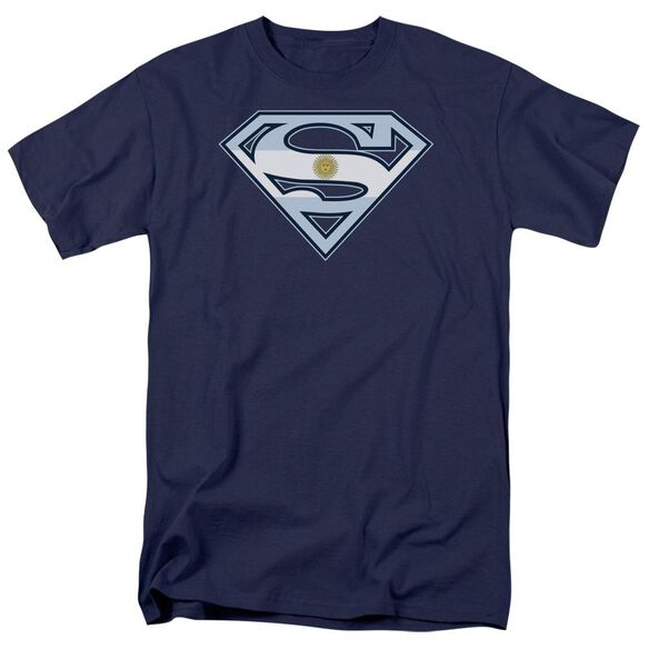 SUPERMAN ARGENTINIAN SHIELD - S/S ADULT 18/1 - NAVY T-Shirt