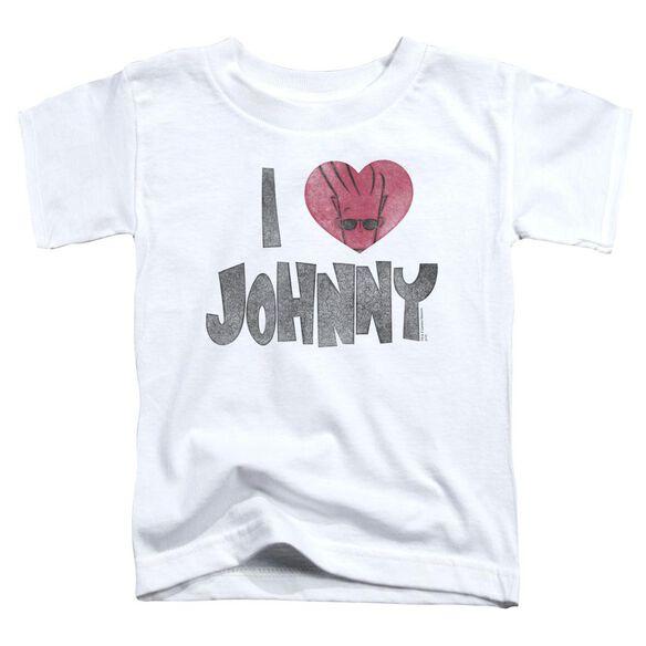 Johnny Bravo I Heart Johnny Short Sleeve Toddler Tee White Sm T-Shirt