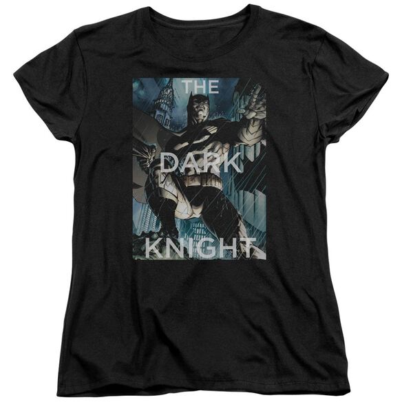 Batman Fighting The Storm Short Sleeve Womens Tee T-Shirt