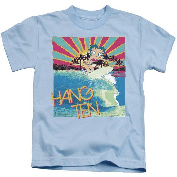 Betty Boop Hang Ten Short Sleeve Juvenile Light Blue T-Shirt
