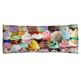 Cupcakes Microfiber Body Pillow
