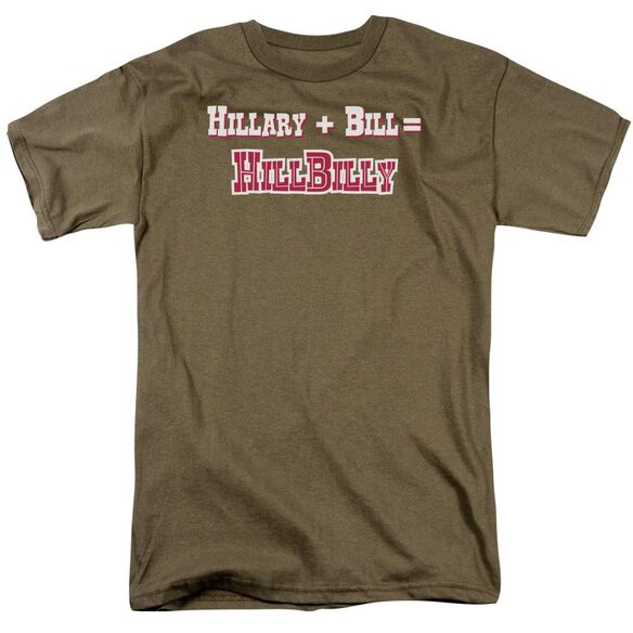 Hillbilly Short Sleeve Adult Safari Green T-Shirt