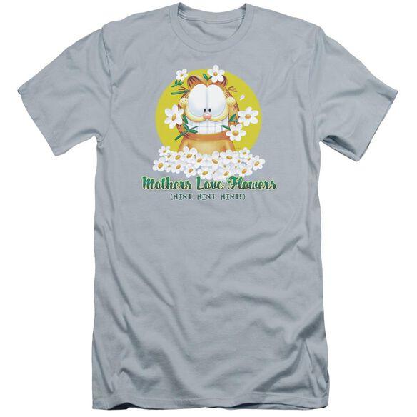 Garfield Mother's Love Flowers Premuim Canvas Adult Slim Fit Light