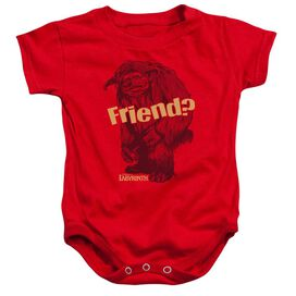 Labyrinth Ludo Friend - Infant Snapsuit - Red - Lg