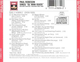 """Paul Robeson - Paul Robeson Sings """"Ol' Man River"""" & Other Favorites"""