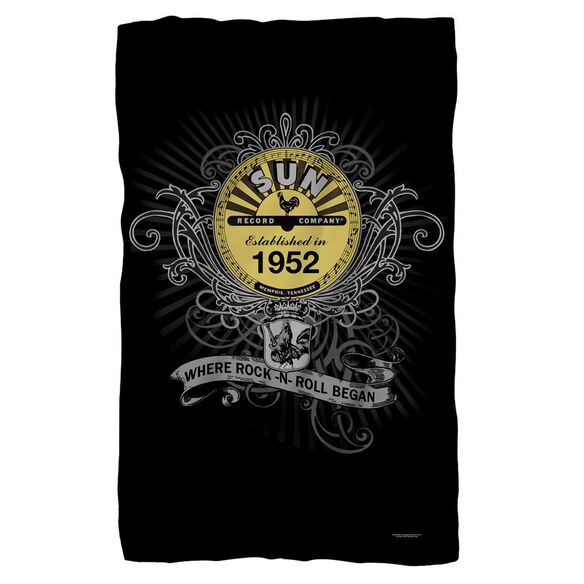 Sun Rockin Scrolls Fleece Blanket