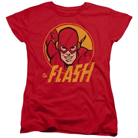 Dc Flash Flash Circle Short Sleeve Womens Tee Red T-Shirt