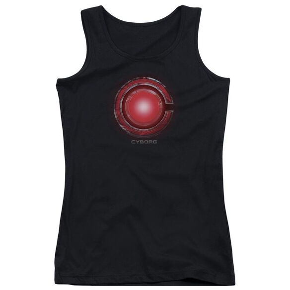 Justice League Movie Cyborg Logo Juniors Tank Top