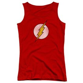 Dc Flash Flash Logo Distressed Juniors Tank Top
