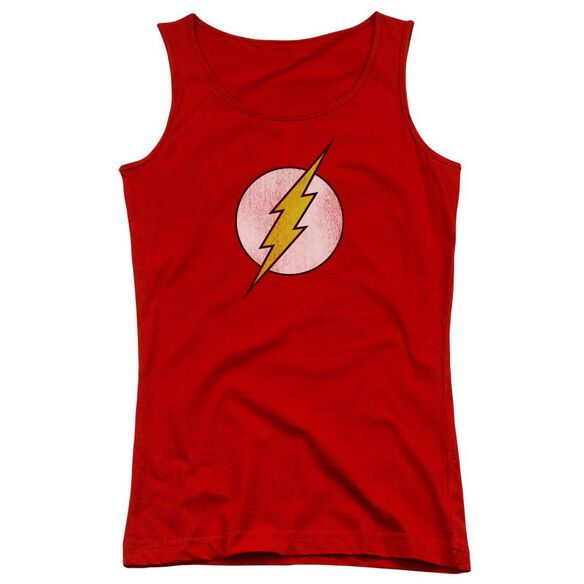 Dc Flash Flash Logo Distressed Juniors Tank Top