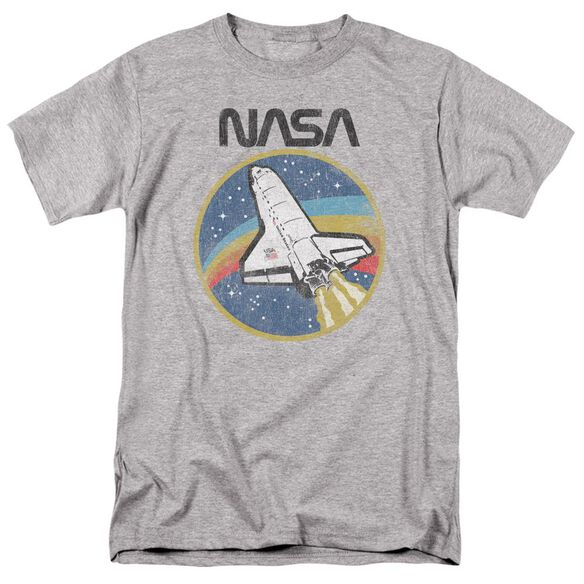 Nasa Shuttle Short Sleeve Adult Athletic T-Shirt