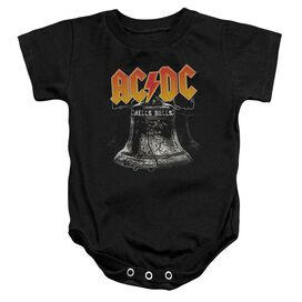 Acdc Hell's Bells Infant Snapsuit Black