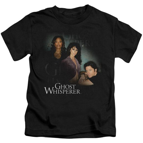 Ghost Whisperer Diagonal Cast Short Sleeve Juvenile Black T-Shirt