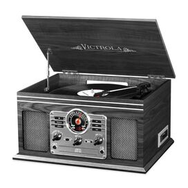 Victrola 6-in-1 Nostalgic Bluetooth Record Player with 3-speed Turntable [Grey]