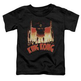 King Kong At The Gates Short Sleeve Toddler Tee Black T-Shirt