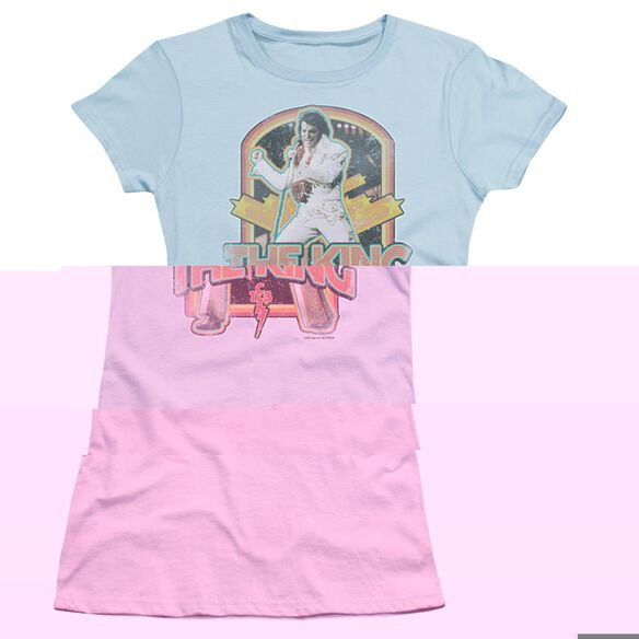 ELVIS PRESLEY DISTRESSED KING-S/S JUNIOR T-Shirt