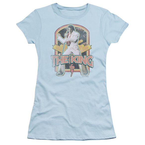 Elvis Distressed King Short Sleeve Junior Sheer Light T-Shirt