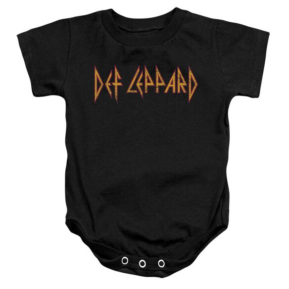 Def Leppard Horizontal Logo Infant Snapsuit Black