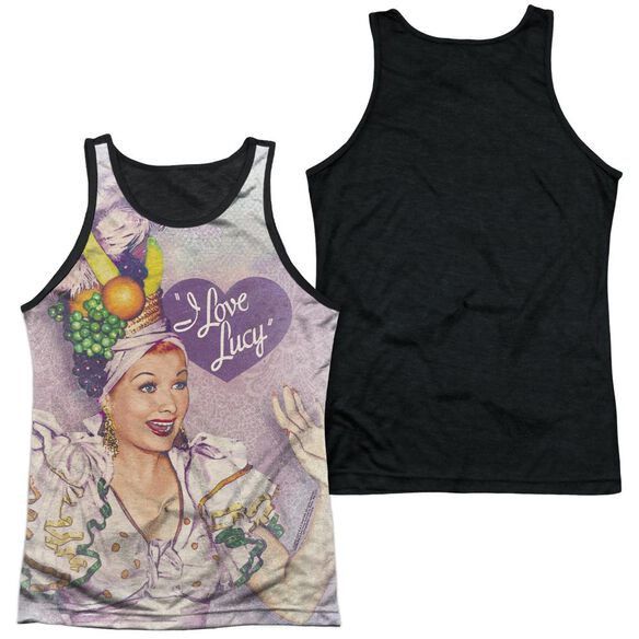I Love Lucy Rumba Dance Adult Poly Tank Top Black Back