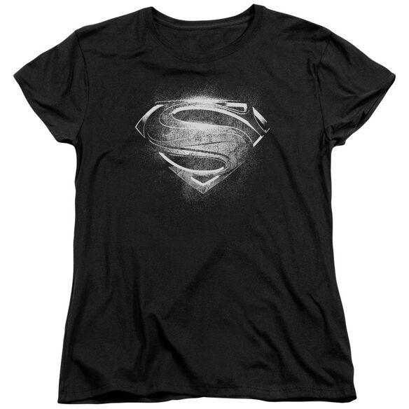 Man Of Steel Contrast Symbol Short Sleeve Women's Tee T-Shirt