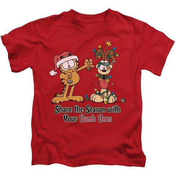 Garfield Share The Season Short Sleeve Juvenile T-Shirt