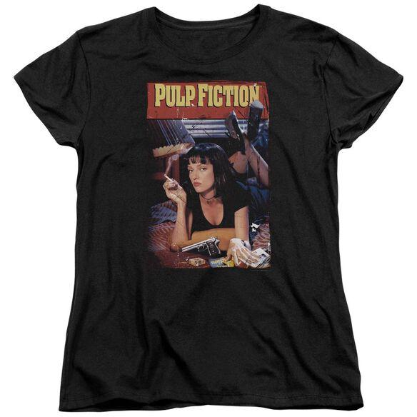 Pulp Fiction Poster Short Sleeve Womens Tee T-Shirt