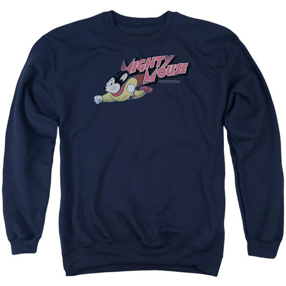 Mighty Mouse Mighty Retro Adult Crewneck Sweatshirt
