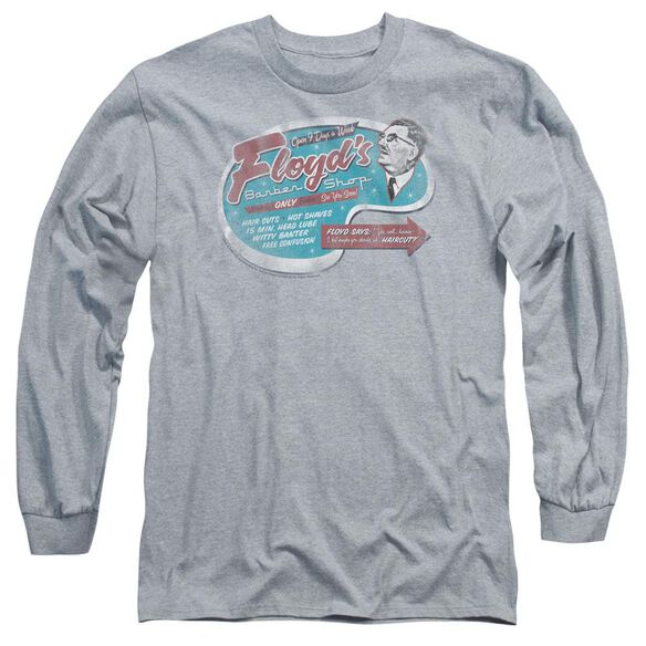 Mayberry Floyds Barber Shop Long Sleeve Adult Athletic T-Shirt