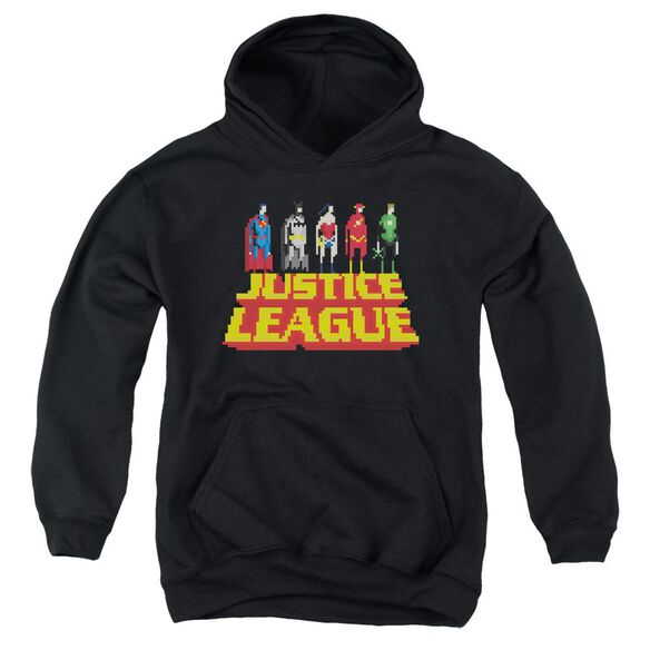 Jla Standing Above Youth Pull Over Hoodie